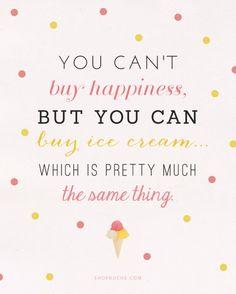 Happiness is... ice cream.
