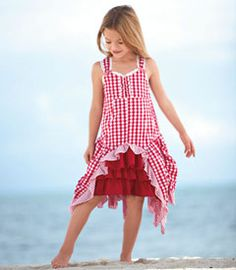 chasing fireflies,  love the gingham and ruffles