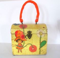 Vintage Teen Purse 1960's Wooden Box Purse Bag by ThePonytailGirls, $38.50