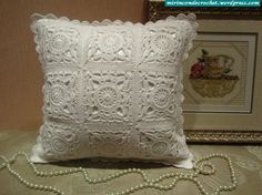 Pillow with diagrams #crochet