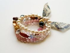 Anthro knock off bracelet...so cute with tutorial.