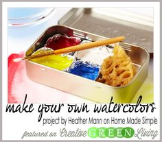 How to Make Your Own Watercolors