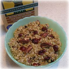 Pecan-Freekeh Breakfast Bowl