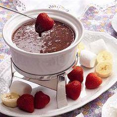 Chocolate Supreme Fondue - not much yummier than this!