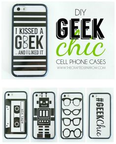 DIY Geek Chic Cell Phone Cases made with Cricut Explore -- The Crafted Sparrow. #DesignSpaceStar Round 2