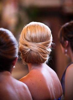 Elegant wedding hair upstyle