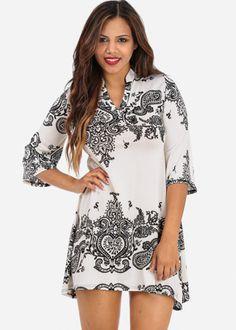Black and White Tunic Dress