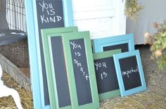 Make chalkboards from old cabinet doors