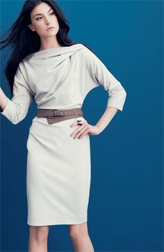 Suzi Chin for Maggy Boutique Belted Dolman Sleeve Sheath Dress #dress #style #sheath $148
