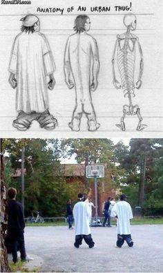 Anatomy of an urban thug.... aka you look like a moron