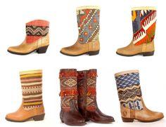 Moroccan Kilim Boots