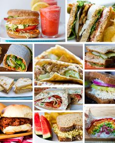 Some ideas for sandwiches for lunchboxes