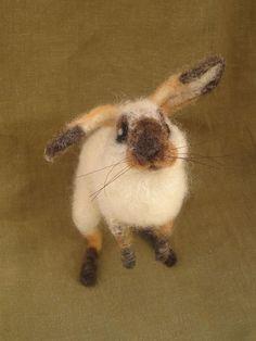 Perfect little needle felted bunny