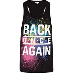 Grey back once again print tank - t-shirts / tanks - sale - men