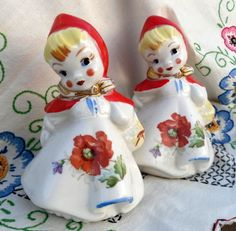 VIntage Fenton salt and pepper shakers