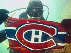 Underwater Habs fan!