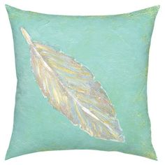 Showcasing a watercolor-inspired feather motif, this plush pillow adds a pop of color to your sofa or settee.   Product: Pillow