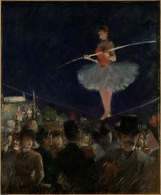 Jean Louis Forain-Tight-Rope Walker   The Art Institute of Chicago