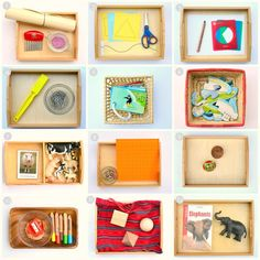 Montessori trays for a 3-year-old.