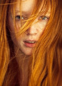 long golden #redhair
