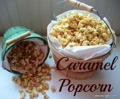 nice recip, scrumptious caramel, save, crunchy caramel popcorn, food, caramels, sweet snack, snack recip, dessert