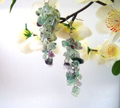 Handmade Fashion Jewelry Green Cluster Fluorite by CraftsbySigita,  www.etsy.com/shop/CraftsbySigita