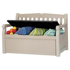 Eden Outdoor Storage Bench Perfect For Storing Pillows