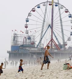 Fun Town Pier, Seaside Heights, New Jersey.... gone after Hurricane Sandy...so many childhood memories