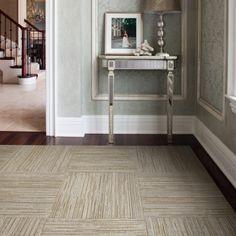 Flor lace bark carpet tiles in river rock #florptw
