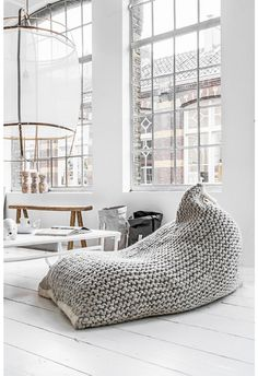 = zila lila beanbag = photo and styling by Paulina Arcklin ❥