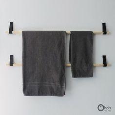 Ohoh Blog - diy and crafts: DIY Towel hanger