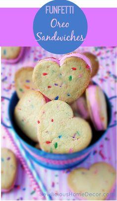 Funfetti Oreo Filled Sandwich Cookies | http://sewlicioushomedecor.com