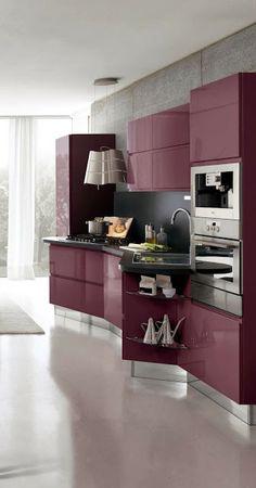 purple kitchen, modern kitchen design, black kitchens, design kitchen, modern kitchens