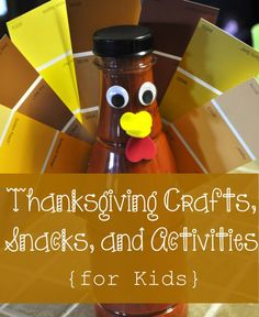 Thanksgiving craft and snack ideas for kids.