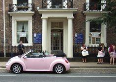 PINK - VW BEETLE - PERFECT WEDDING CAR pink beetle, pink bug, vw beetles, beetl convert, weddings, beetl bug, pink car, wedding cars, mini car