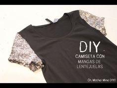DIY Camiseta con mangas de lentejuelas