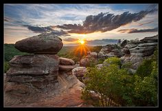 Garden of The Gods in the Shawnee National Forest near Cave In Rock IL. I loved this place. rock climbing, illinois travel, nation forest, hiking in illinois, garden of the gods illinois, shawnee national forest, beautiful places in illinois, southern illinoi, cave