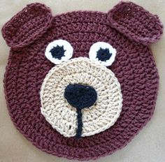 bear dishcloth - free pattern