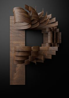 Nike Typography with Wooden Slats