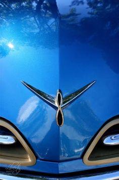 Classic car 1953 Studebaker 9x12 art photo #car #blue #Studebaker