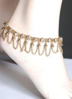 Indian Anklets indian anklet, jewelleri, style, jewelri dobraceletanklet, anklets, toe bling, toe ring