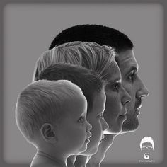 I love this family portrait pose in with ascending profiles in black and white. Great idea! I would totally put this on my wall (of my family of course!)