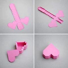 DIY gift box in heart shape