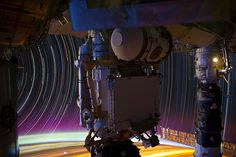 The International Space Station captures composite images of star trails