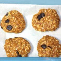 No-Bake Pumpkin Chocolate Chip Protein Cookies