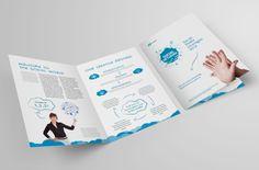 Bi-fold Brochure template #design | via www.behance.net/gallery/Bi-Fold-Brochure-12/11099015