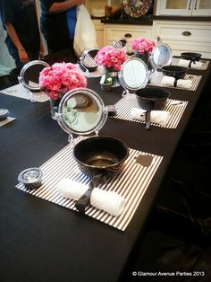 Barbie Spa Party #Barbie #spaparty would LOVE to do this for a bridesmaid luncheon! Liking the paper placemats
