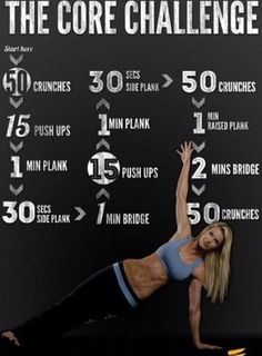 Hard core abs workout