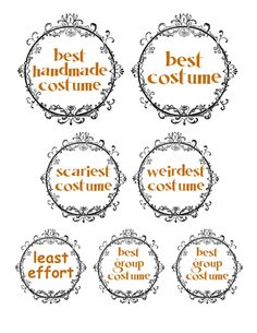halloween costume contest prizes with bonus PDF! | i could make that