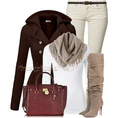 """Louboutin Boots & Mk Hamilton Bag"" by casuality on Polyvore"